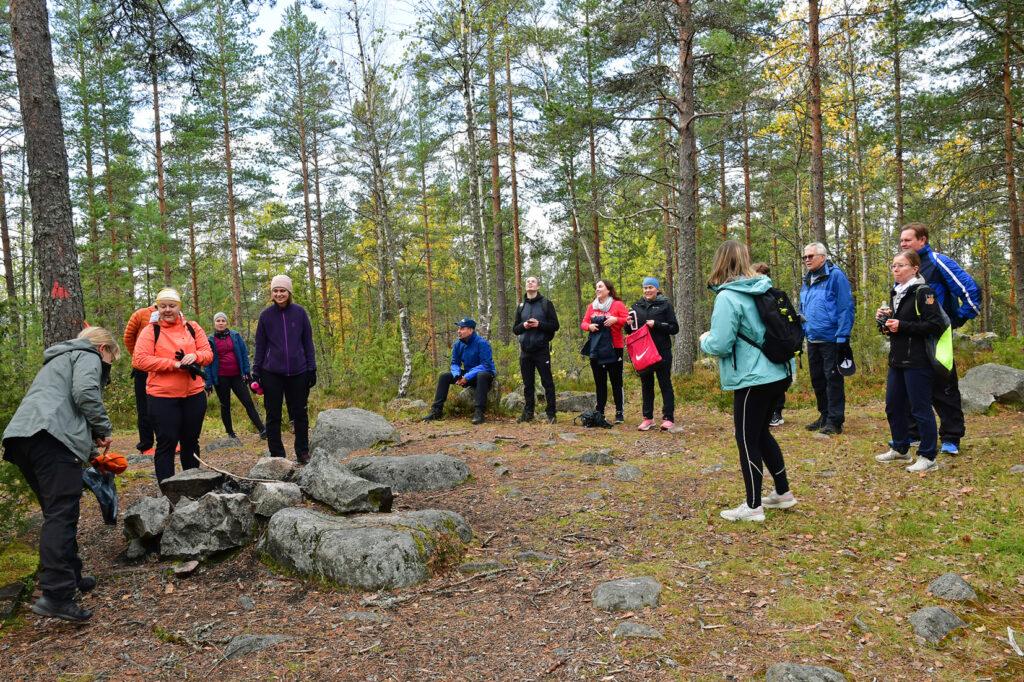 Keski-Suomen liiton väkeä Kanavuoressa